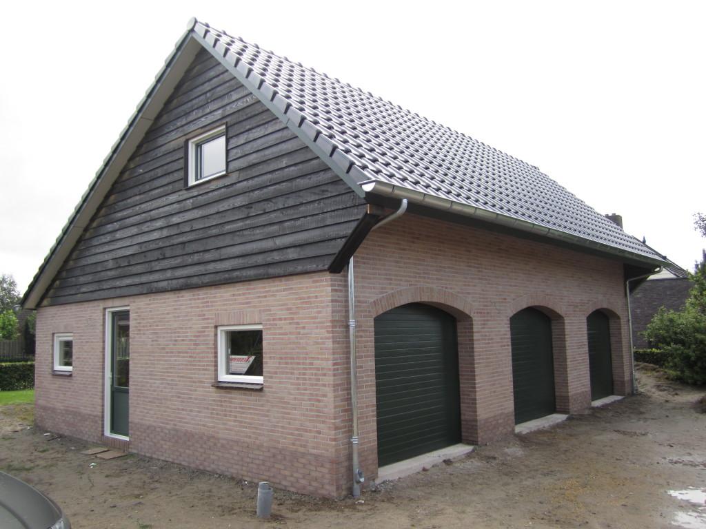 Nieuwbouw garage/schuur