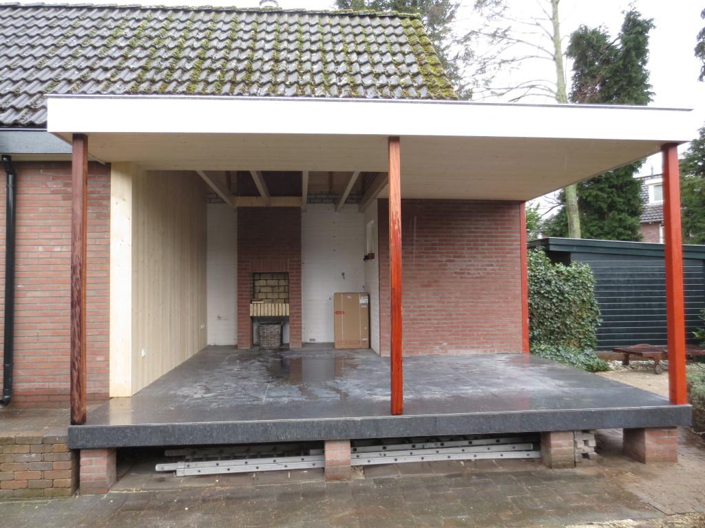 Verbouw en uitbreiding overdekte tuinkamer met terras apeldoorn uw bouwbedrijf in gelderland - Bouw een overdekt terras ...