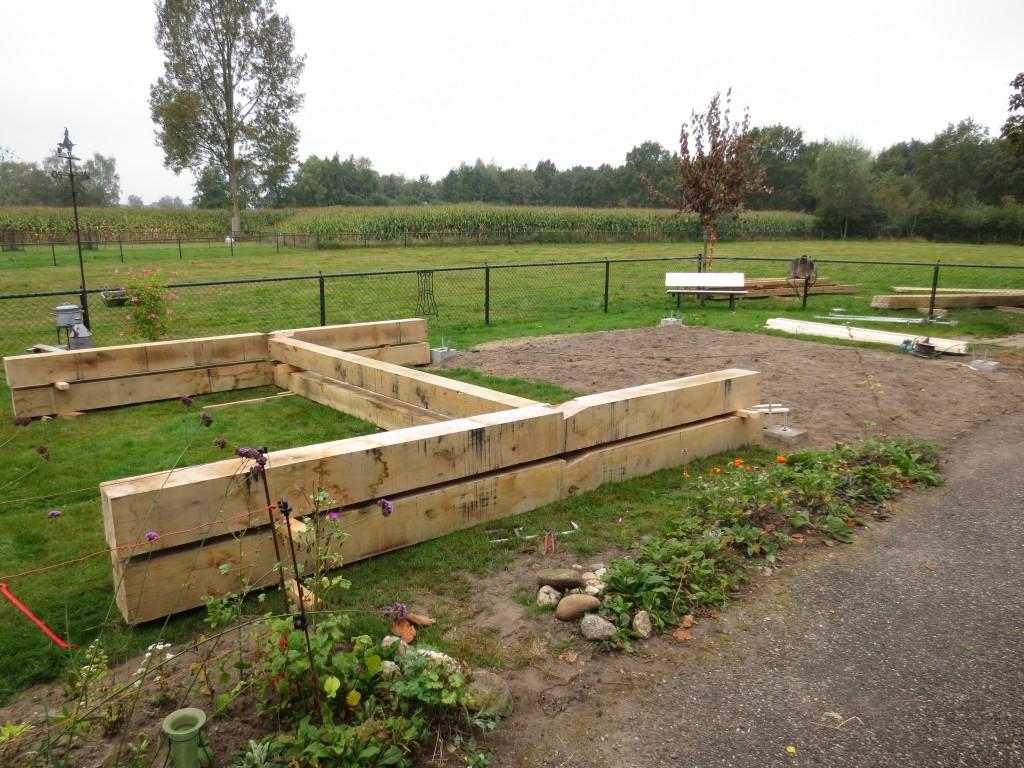 Bouw hooiberg met rieten kap uw bouwbedrijf in gelderland - Bouw een overdekt terras ...