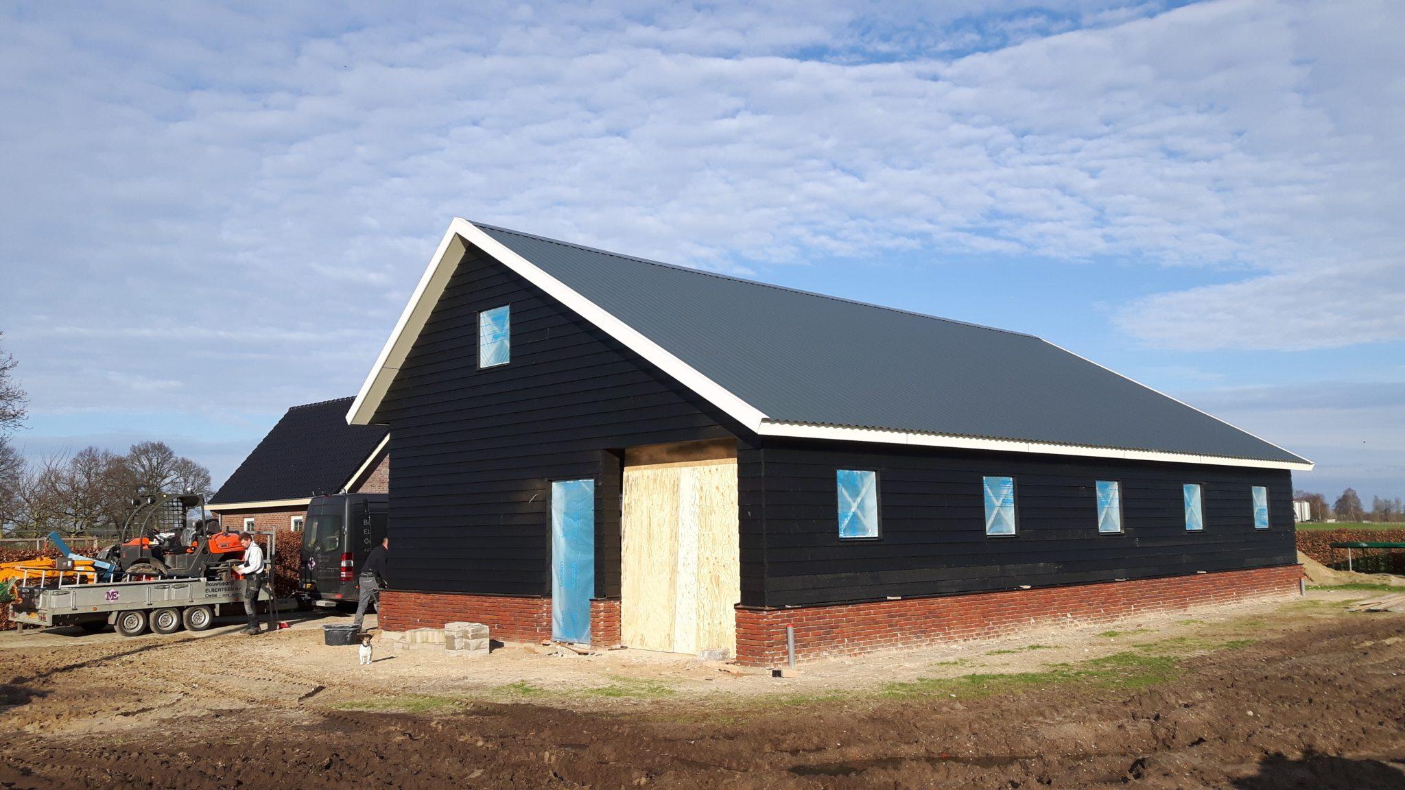 Beemte Broekland nieuwbouw kapschuur
