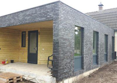 Aanbouw aan woning in Wenum Wiesel